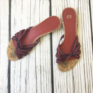 Gap red and blue Strappy cork sandals